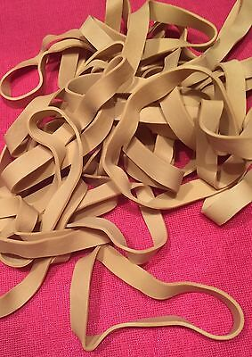 "25 - 4"" X 3/8"" Rubber Bands - Close To Size 134 - Heavy Duty - Strong -  Ne"