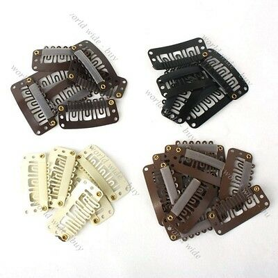 100pcs U Shape Clips Hair Clips For Clip IN HAIR EXTENSIONS Blonde Black 32mm