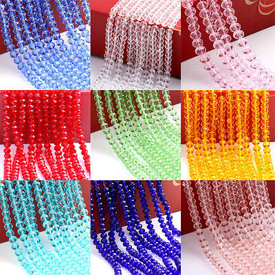 New Czech Glass Crystal Rondelle Loose Spacer Beads Finding 4/6/8/10mm