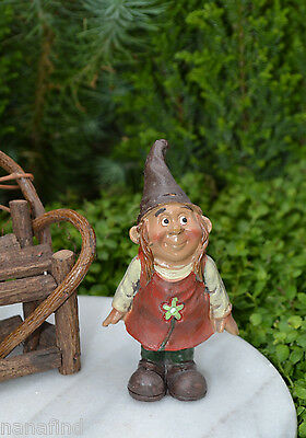 Miniature Dollhouse FAIRY GARDEN Accessories ~ Standing Girl Gnome ~ NEW