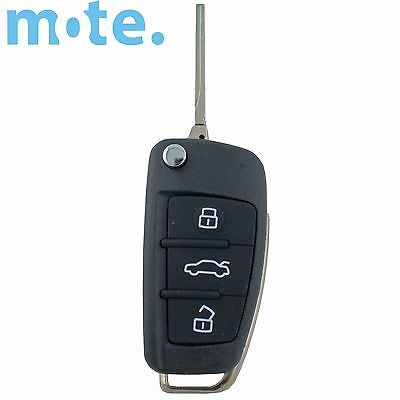 Audi A3 A4 A5 A6 A8 Q5 Q7 TT S LINE RS 3 Button Remote Flip Key Shell/Case/Fob
