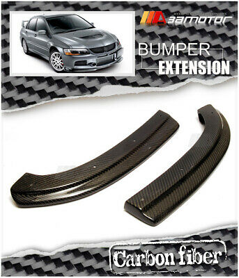 Carbon Fibre DAMD Rear Bumper Extensions for JDM Mitsubishi Evolution IX EVO 9