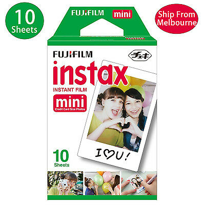 10 Sheet Fujifilm Instax Mini Film Fuji instant photos 7s 8 90 25 Polaroid 300