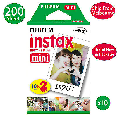 200 Sheet Fujifilm Instax Mini Film Fuji instant photos 7s 8 90 25 Polaroid 300