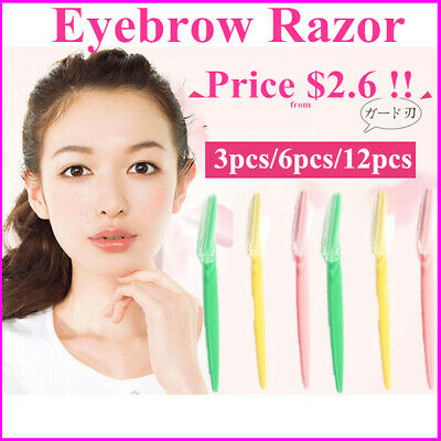 12 PC New Facial Eyebrow Razor Trimmer Shaper Shaver Blade Knife Hair Removers
