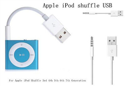 OEM Apple iPod Shuffle 2nd//3rd//4th//5th//6th//7th USB Charger SYNC Data Cable Lot