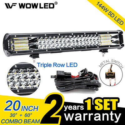 "WOW - 180W 28"" CREE LED Work Light Bar Combo Offroad Truck Lamp Light + Wiring"