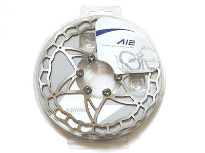 The Lightest ASHIMA Ai2 Disc Rotor 64g/140mm , 73g/160mm , 104g/180mm Silver