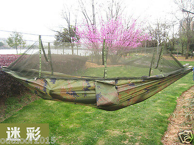 Lightweight Outdoor Camping Military Hammock Tent w/ Anti-mosquito Mosquito Net