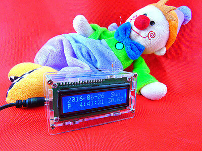 LCD 1602 Digital Electronic Clock DIY Kit Temperature Time Calendar Display