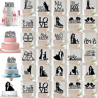 Cake Toppers Letters Uk : Acrylic Personalised Mr and Mrs Heart Cake Topper Wedding ...