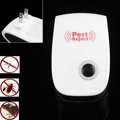 Electronic Ultrasonic Anti Pest Bug Mosquito Cockroach Mouse Killer Repeller B