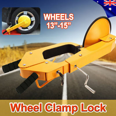 OZ Wheel Clamp Disc Lock Anti-Theft Security Safety Auto Car Vehicle Heavy Duty