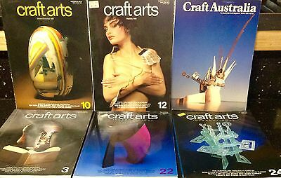 5 Craft Arts International Books And 1 Craft Australia Book. Excellent Condition