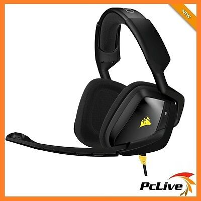 Corsair VOID Stereo Gaming Headset Black Noise Cancelling Microphone PC Mac PS4
