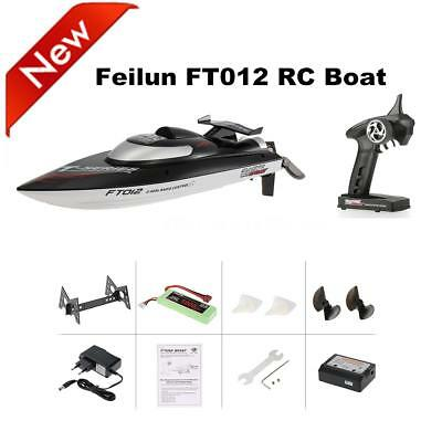 Hot FT012 2.4G Brushless 45km/h RC Racing Boat with Self-righting System G4U3