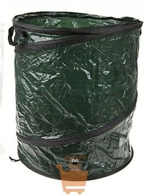 Jumbo Large Pop Up Garden Allotment Refuse Bag Bin Sack with Carry Handles
