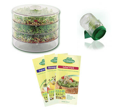 A Vogel Biosnacky Germinator & 4 Pack of seeds healthy sprouting