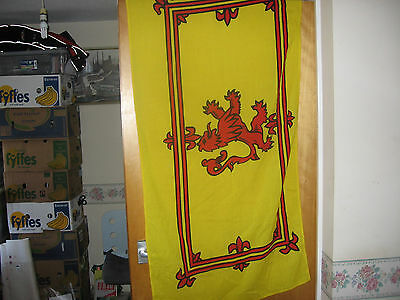 Royal banner flag of Scotland.rampant lion.free UK delivery