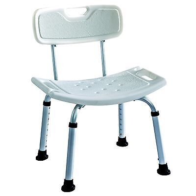 Lightweight aluminium Deluxe shower stool / bath seat with backrest