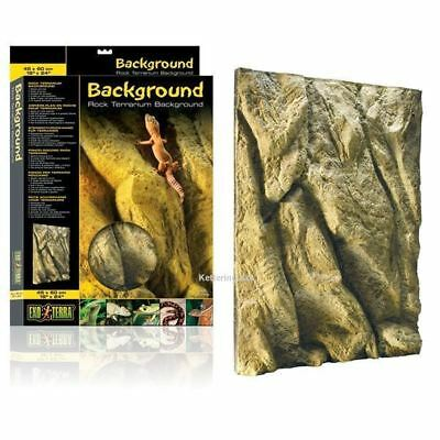 Exo Terra Rock Background Terrarium Viv Climbing Reptile Gecko Snake Decoration