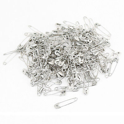 Mini Sized Coiled Design Silver Tone Safety Pins Replacement 100pcs SH