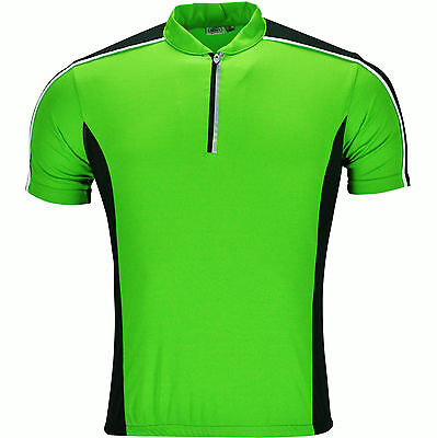 New Mens Cycling Jersey Short Sleeve Shirt Bike Tops Riding Breathable High Viz