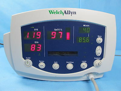 Welch Allyn 300 VSM Vital Signs Monitor SpO2 BP and Temp 53NT0 Warranty Complete