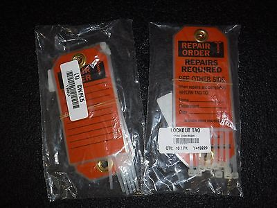"(2 Packs of 10) New BRADY 86449 Repair Tags 5-3/4""H x 3""W HD Poly 9WFL5 (S)"