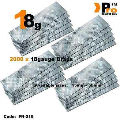 18Gauge Second Fix Nails 2000 Brads