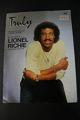 SHEET MUSIC: Truly Lionel Richie Brockman Music 1982
