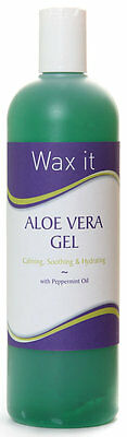 Wax It Proffesional Aloe Vera Gel With Pepermint and Cucumber Extract 500 ML