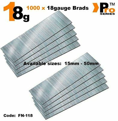 18Gauge Second Fix Nails 1000 Brads      01