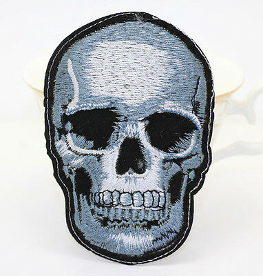 Punk skull Embroidery Iron sew on patch applique badge DIY Motif For clothing