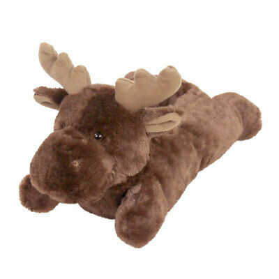 Fuzzy Moose Slippers - Furry Brown Animal Slippers