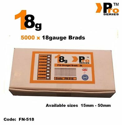 18Gauge Second Fix Nails 5000 Brads    06