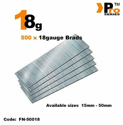 18Gauge Second Fix Nails 500 Brads    011