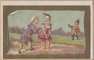 Victorian Trade Card-Ivorine-J B Williams-Glastonbury CT-Two Men Vying for Woman