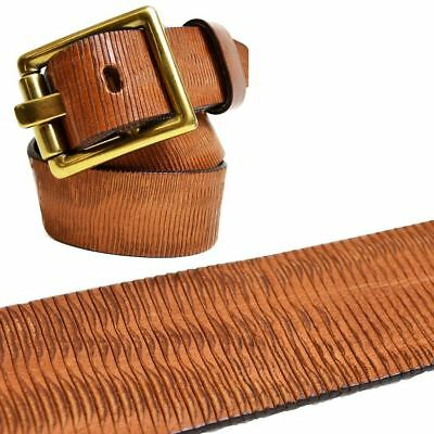 True Religion Womens Tan Textured Leather Belt Aub00001 Msrp 128  Size Small