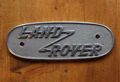 Land Rover Series 1 Badge ~ Cast Aluminium Sign Badge Plaque Old Vintage Style ~