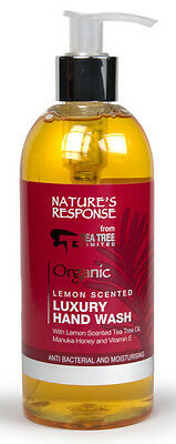 Nature's Response Hand Wash - Lemon Scented Tea Tree, Manuka Honey & Vit E 300ml
