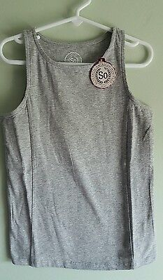 NWT 'So' Girls SIZE 10 Tank Top GRAY HEATHER Cotton Blend NEW #214516