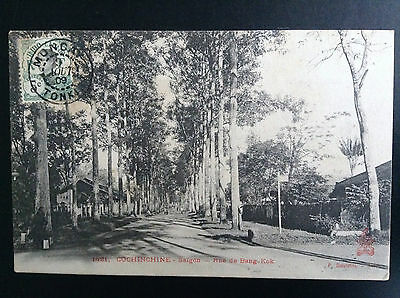 CP carte postale Indo Chine Cochinchine Saigon Rue de Bang Kok