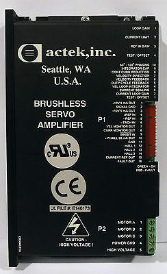 1 Used Actek B25A20Q-Ac2 Brushless Servo Amplifier ***make Offer***