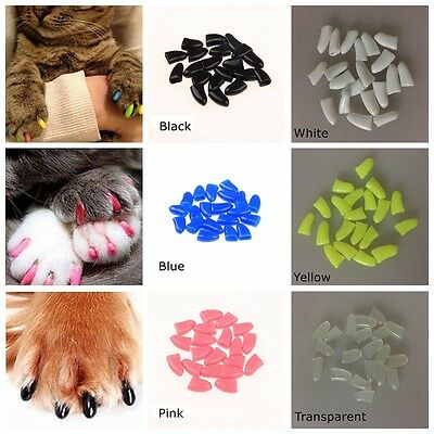 100Pcs Soft Cat Paw Pet Nail Caps Size XS-XXL Dog Claw Control Avoid Scratching