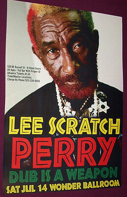 Lee Scratch Perry Concert Poster