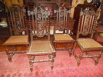 Four French Hunt Chairs Late 1800's
