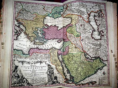TURKEY, OTTOMAN EMPIRE, MIDDLE EAST, ARABIA, large map by SEUTTER, 1728
