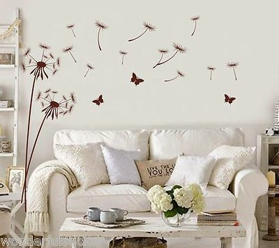 Dandelion Vinyl Wall Art Stickers Room Decals Transfers Home Decor