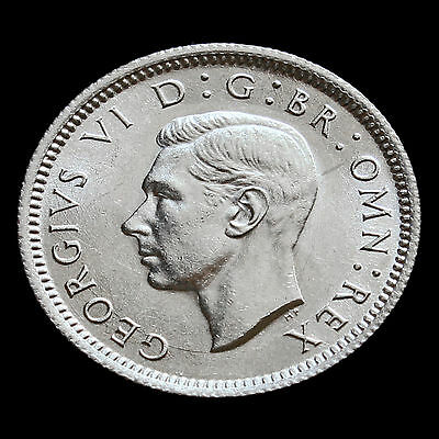 1943 George VI Silver Sixpence – UNC #2